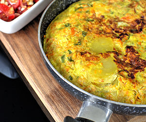 Karotten-Lauch-Tortilla