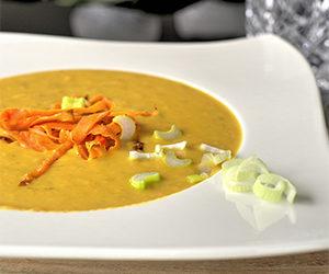 Süßkartoffel-Lauch-Suppe
